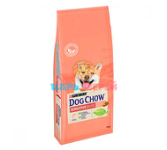 Dog Chow (Дог чау) - Sensitive с лососем для собак с чувствительным пищеварением, 14 кг